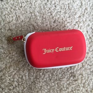 GREAT CONDITION Juicy Couture Small Red Zip Case